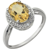 Magnificent Citrine Genuine Gemstone Ring at BitCoin Gems