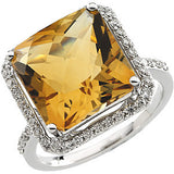 Fetching Citrine Genuine Gemstone Ring at BitCoin Gems