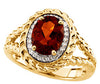 Classy Citrine Genuine Gemstone Ring at BitCoin Gems