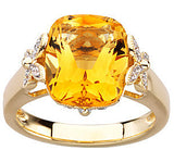 Fantastic Citrine Genuine Gemstone Ring at BitCoin Gems