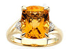 Delicate Citrine Genuine Gemstone Ring at BitCoin Gems