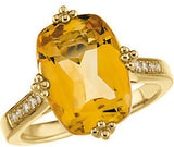 Endearing Citrine Genuine Gemstone Ring at BitCoin Gems