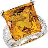 Best Citrine Genuine Gemstone Ring at BitCoin Gems