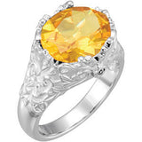 Exquisite Citrine Genuine Gemstone Ring at BitCoin Gems