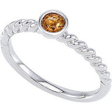 Pretty Citrine Genuine Gemstone Ring at BitCoin Gems