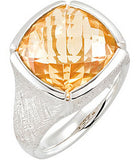 Attractive Citrine Genuine Gemstone Ring at BitCoin Gems