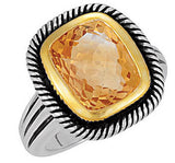 Eye Catching Citrine Genuine Gemstone Ring at BitCoin Gems