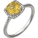 Trendy Citrine Genuine Gemstone Ring at BitCoin Gems