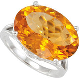 Chic Citrine Genuine Gemstone Ring at BitCoin Gems