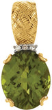 Stylish Genuine Gemstone Peridot Pendant for SALE at BitCoin Gems