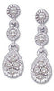 Beautiful Genuine Gemstone Diamond Earrings at BitCoin Gems