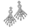 Exquisite Genuine Gemstone Diamond Earrings at BitCoin Gems