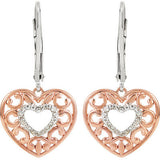 Romantic Genuine Gemstone Diamond Earrings at BitCoin Gems