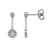 Outstanding Genuine Gemstone Diamond Earrings at BitCoin Gems