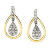 Impressive Genuine Gemstone Diamond Earrings at BitCoin Gems