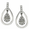 Splendid Genuine Gemstone Diamond Earrings at BitCoin Gems