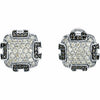 Royal Genuine Gemstone Diamond Earrings at BitCoin Gems