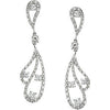Flirty Genuine Gemstone Diamond Earrings at BitCoin Gems