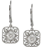 Ravishing Genuine Gemstone Diamond Earrings at BitCoin Gems