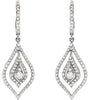 Stylish Genuine Gemstone Diamond Earrings at BitCoin Gems