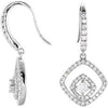 Stunning Genuine Gemstone Diamond Earrings at BitCoin Gems