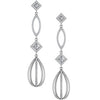 Extraordinary Genuine Gemstone Diamond Earrings at BitCoin Gems