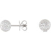 Sparkly Genuine Gemstone Diamond Earrings at BitCoin Gems