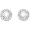 Gorgeous Genuine Gemstone Diamond Earrings at BitCoin Gems