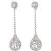 Fancy Genuine Gemstone Diamond Earrings at BitCoin Gems