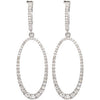 Magnificent Genuine Gemstone Diamond Earrings at BitCoin Gems