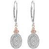 Elegant Genuine Gemstone Diamond Earrings at BitCoin Gems