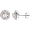 Amazing Genuine Gemstone Diamond Earrings at BitCoin Gems