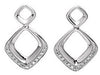 Contemporary Genuine Gemstone Diamond Earrings at BitCoin Gems