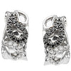 Pretty Genuine Gemstone Diamond Earrings at BitCoin Gems