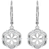 Fashionable Genuine Gemstone Diamond Earrings at BitCoin Gems