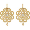 Fantastic Genuine Gemstone Diamond Earrings at BitCoin Gems