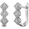 Dazzling Genuine Gemstone Diamond Earrings at BitCoin Gems
