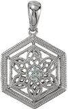 Arresting Genuine Gemstone Diamond Pendant for SALE at BitCoin Gems