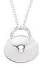 Feminine Genuine Gemstone Diamond Pendant for SALE at BitCoin Gems