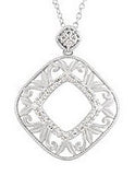 Beautiful Genuine Gemstone Diamond Pendant for SALE at BitCoin Gems
