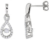 Breathtaking Genuine Gemstone Diamond Earrings at BitCoin Gems