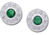 Fabulous Genuine Gemstone Emerald Earrings at BitCoin Gems