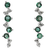 Stunning Genuine Gemstone Emerald Earrings at BitCoin Gems