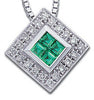 Rich Genuine Gemstone Emerald Pendant for SALE at BitCoin Gems