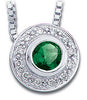 Fabulous Genuine Gemstone Emerald Pendant for SALE at BitCoin Gems