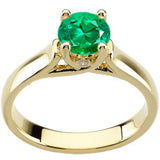 Trendy Emerald Genuine Gemstone Ring at BitCoin Gems