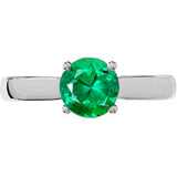 Attractive Emerald Genuine Gemstone Ring at BitCoin Gems