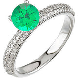Gorgeous Emerald Genuine Gemstone Ring at BitCoin Gems