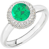 Chic Emerald Genuine Gemstone Ring at BitCoin Gems