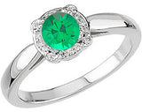 Fine Emerald Genuine Gemstone Ring at BitCoin Gems